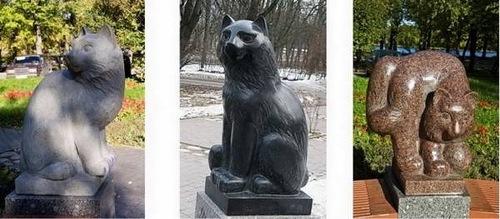 кошки в Петергофе