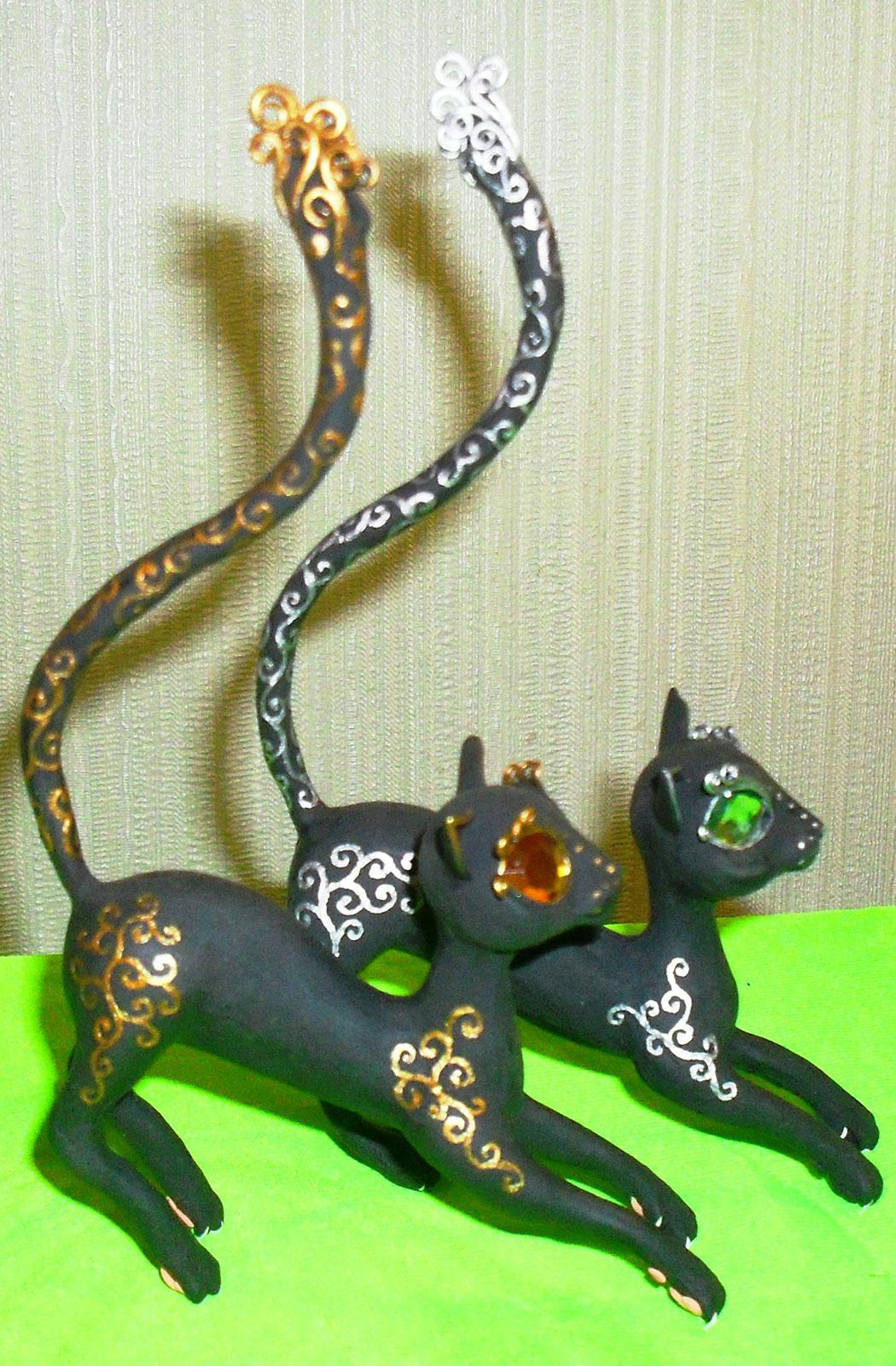 кошки для колек сувенир из бархатного пластика