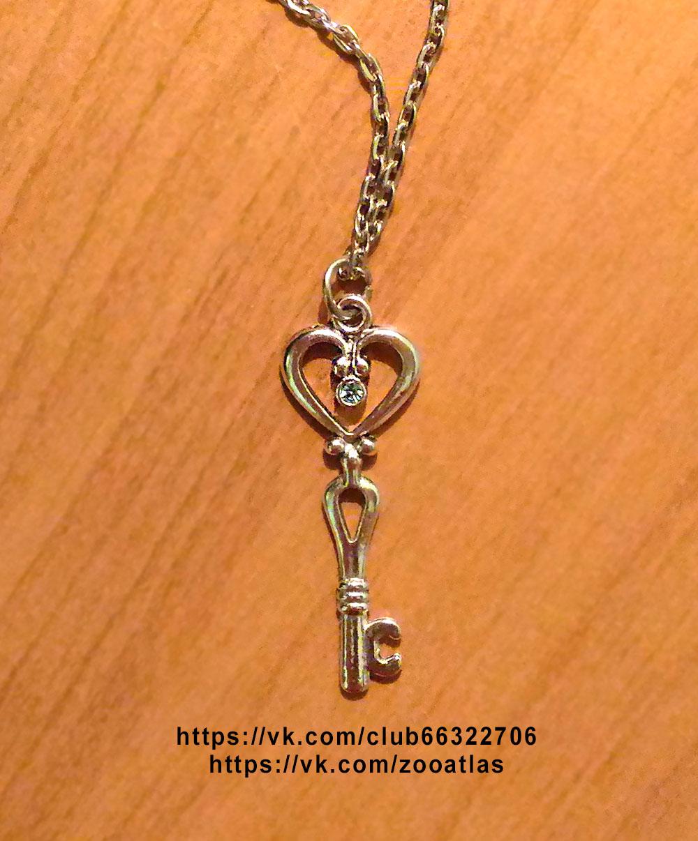 кулон с серебряным ключиком