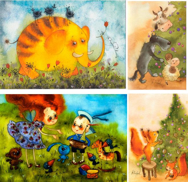 открытки с новым годом и счастьем