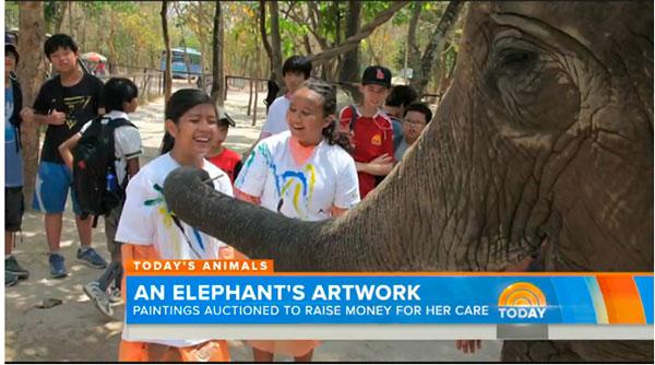 слон пишет картины